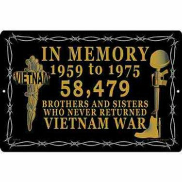 SG9135 (S072) SIGN-VIETNAM,IN MEMORY (XLG) (12X18)EEI