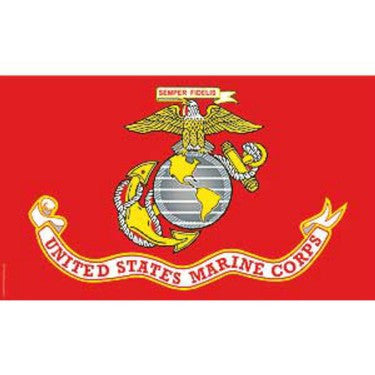 F3205-05 (FN055) FLAG-USMC NYL-GLO (3ftx5ft) MADE IN USA EEI