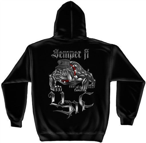 AL231SW Chrome dog Semper FI (black) - Sgt. Mark's Depot Store