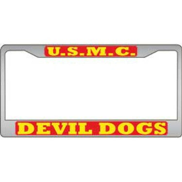 LP3979 (L050) LIC.FRAME,USMC,DEVIL DOG EEI
