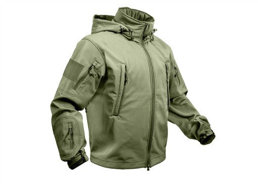9745 Special Ops Tactical Softshell Jacket OLIVE DRAB