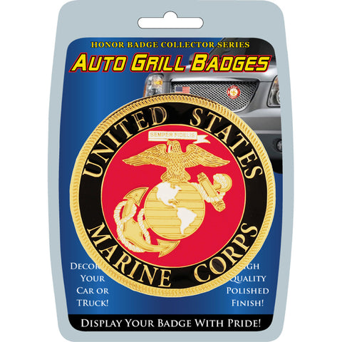 (MD020) CAR GRILL BADGE-USMC EEI - Sgt. Mark's Depot Store