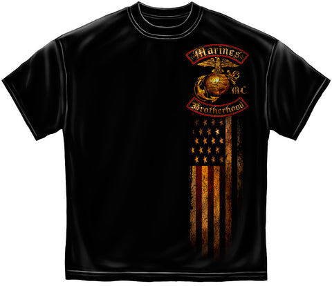 MM2239 USMC BROTHERHOOD DISTRESSED GOLD FOIL - Sgt. Mark's Depot Store