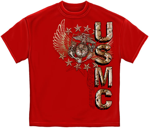 THM2066 USMC PRIDE DUTY HONOR STARS FOIL STAMP