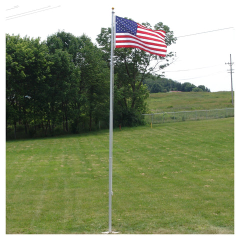 AHD20OP Super Tough Heavy Duty 20ft Residential flagpole with US made nylon flag - Sgt. Mark's Depot Store