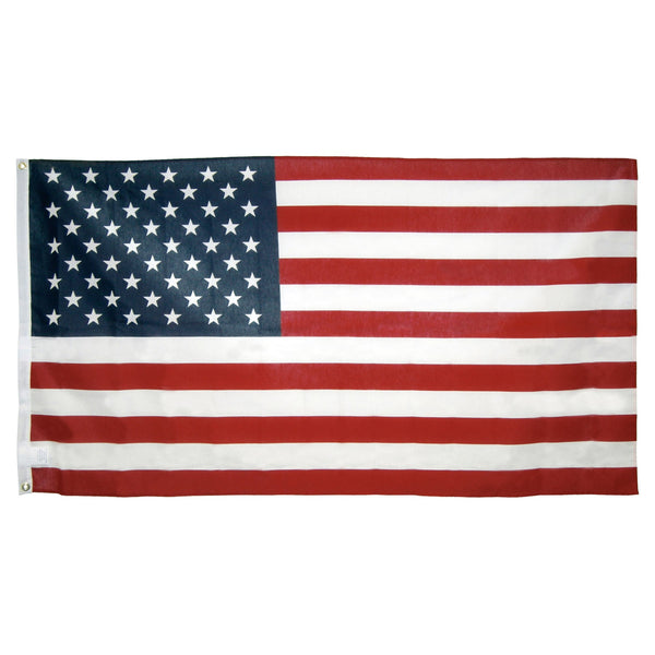 1030051 3ft x 5ft Poly Cotton American Flag - U.S. Made