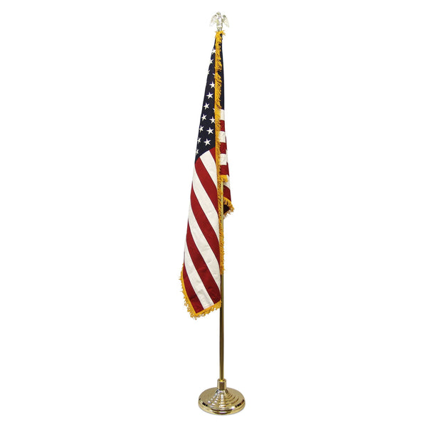KLCIA-Cotton Super Tough Indoor American Flag and Pole Kit