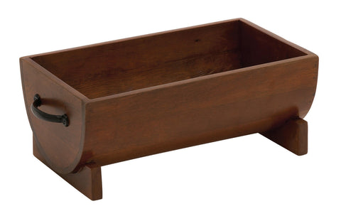 Simple Half Round Wood Metal Organizer Decorative Plant Container File Home Deco