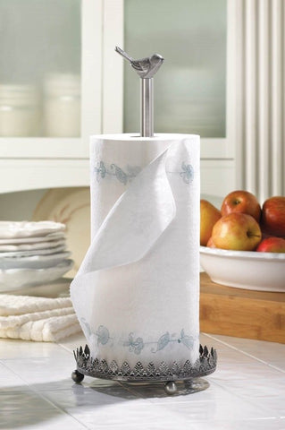Chicadee Bird Metal Paper Towel Holder Kitchen Accessories