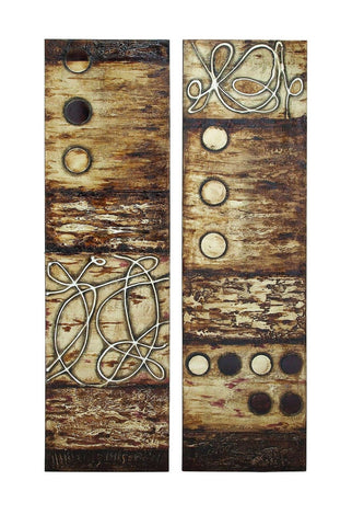 20x70 Pair Large Modern Wood Canvas Wall Art Hanging Western Rustic Home Decor