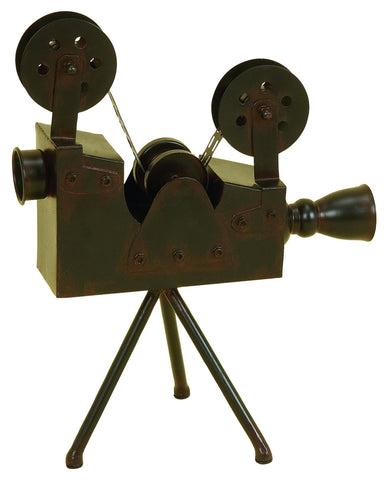 Antique Style Old Fashioned Movie Camera Projector Hollywood Cinema Sculpture