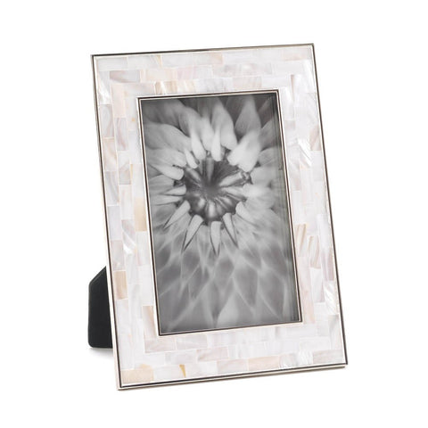 4x6 Mother of Pearl Standing Picture Holder Photo Frame Ocean Sea Decor
