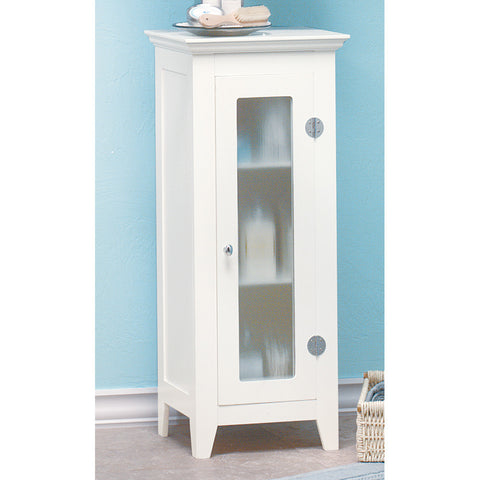 "33"" Tall White Wood Night Stand Accent Side End Table Bathroom Cabinet"