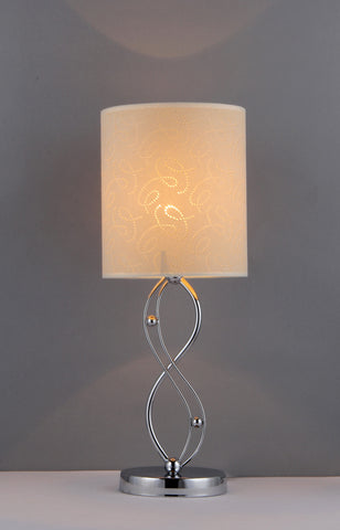 "14"" Contemporary Silver Infinity Table Lamp Modern Home Decor"