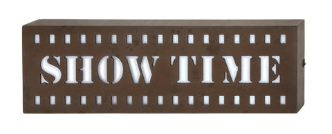 "21"" Brown LED ""ShowTime"" Light Wall Sign Hollywood Movie Theater Decor"