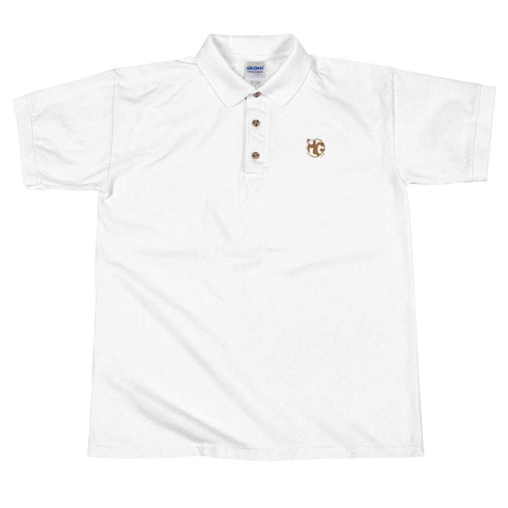 Embroidered Polo Shirt HG Logo (brown)
