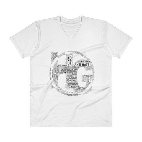 V-Neck T-Shirt TEXT LOGO