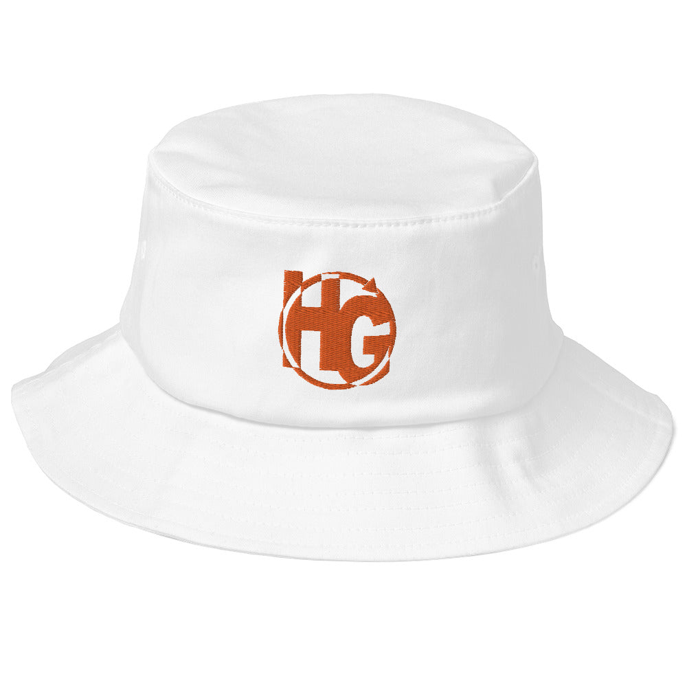 Old School Bucket Hat (Orange Logo)