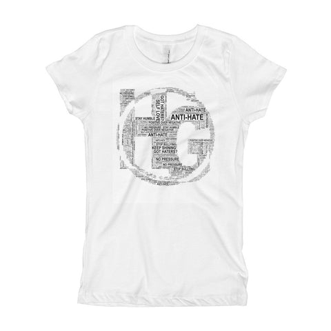 Girl's T-Shirt with Text Logo
