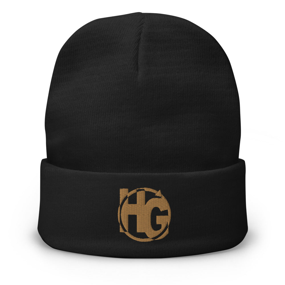 HG365 Embroidered Beanie (Old Gold)