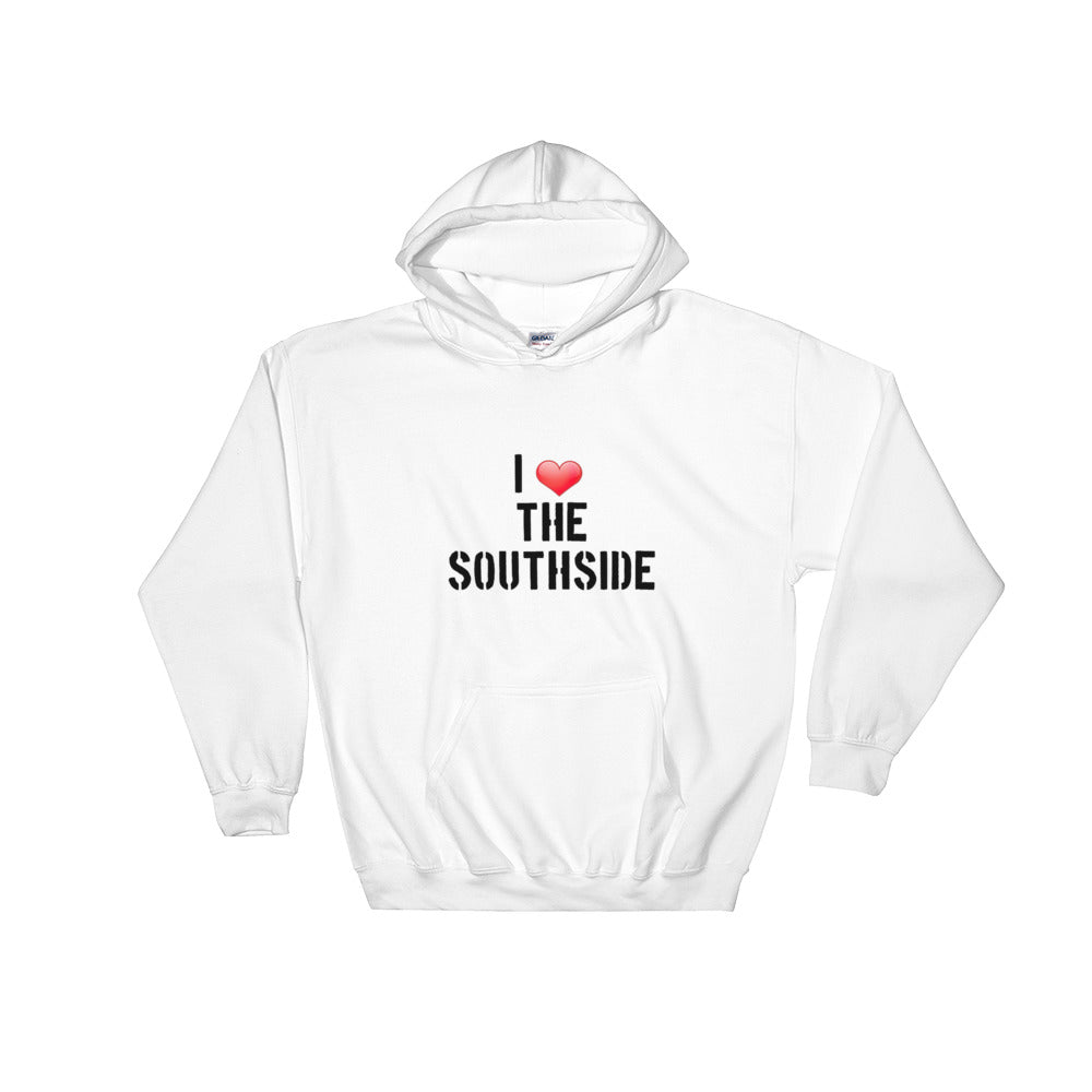"Hooded Sweatshirt with ""I ❤ THE SOUTHSIDE"" LOGO"