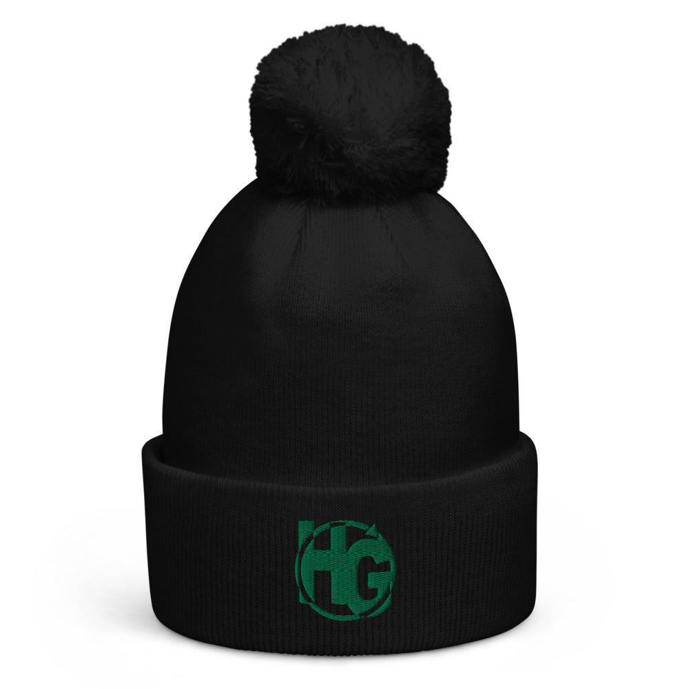 HG365 Pom pom Beanie (Kelly Green)