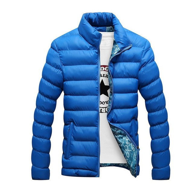 2018 Winter Puffer Jacket Fashion Casual Slim Stand Collar Zipper Padded Outwear Windproof Male Down Coat Parka Plus Size 5XL