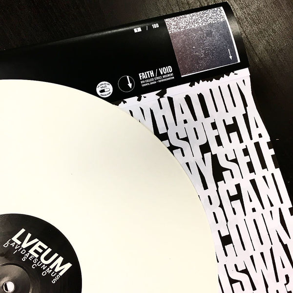 S.H.I.T. - What Do You Stand For? LP (FAITH / VOID Edition White Vinyl)