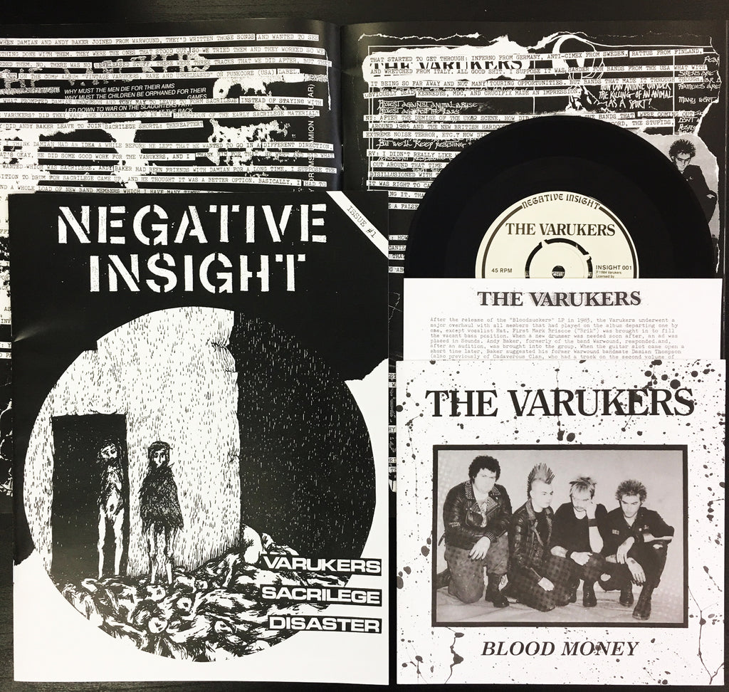 "NEGATIVE INSIGHT #1 w/ VARUKERS - Blood Money 7"" EP"