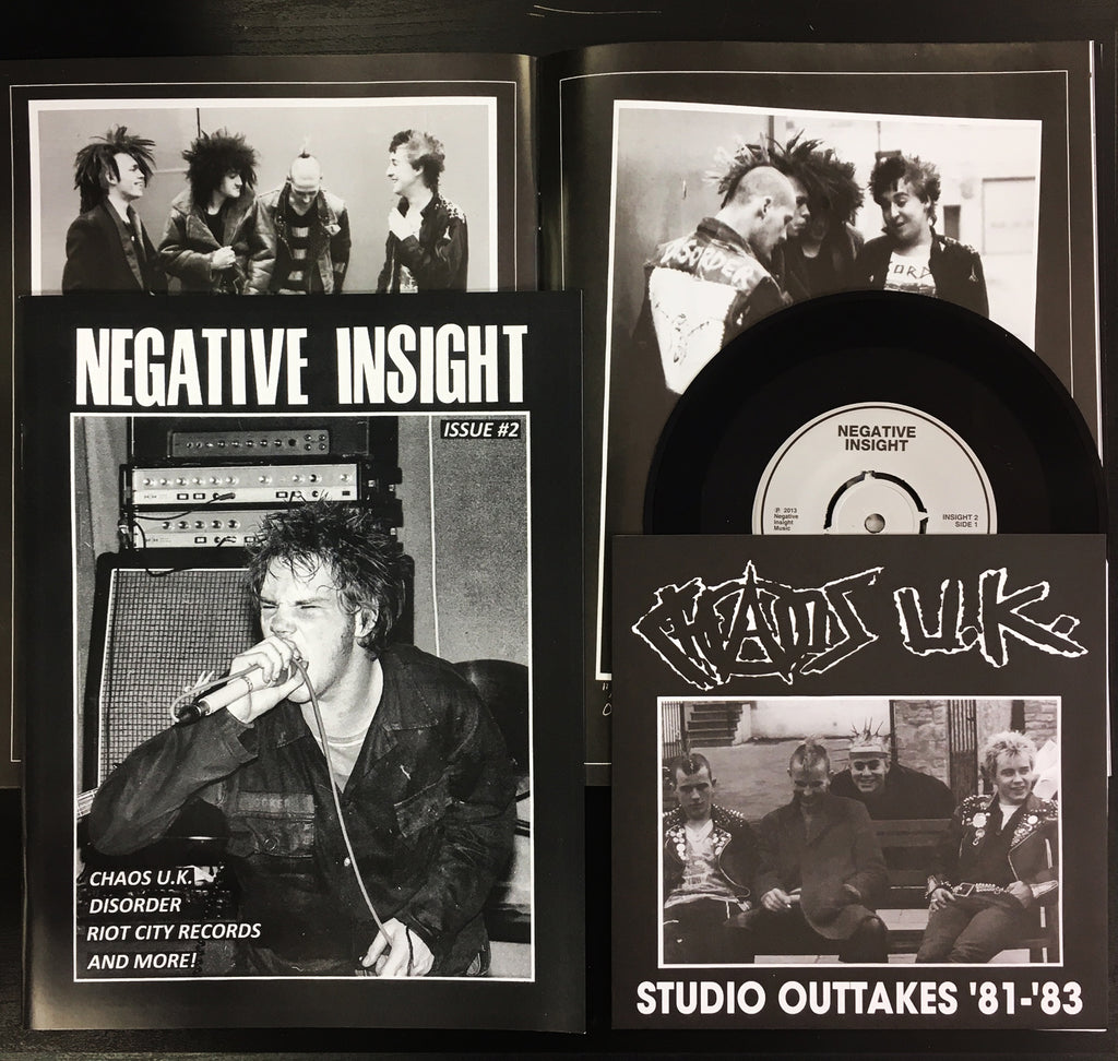 "NEGATIVE INSIGHT #2 w/ CHAOK UK - Studio Outtakes 1981-1983 7"" EP"