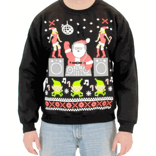 DJ Santa Claus Black Sweatshirt
