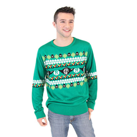 Green Yoda Christmas Sweater