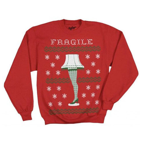 A Christmas Story Fragile Leg Lamp Red Sweatshirt