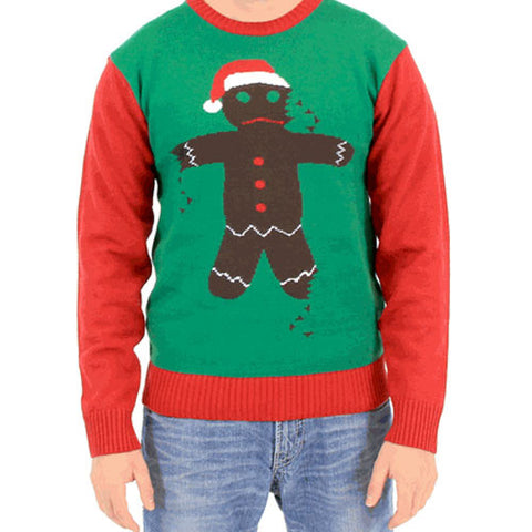 Broken Gingerbread Man Christmas Sweater