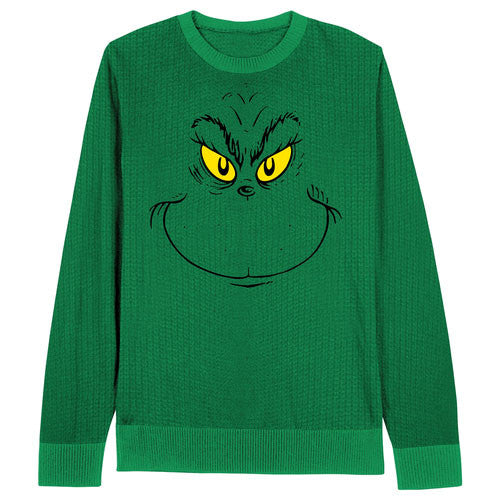Grinch Face Dr. Seuss Christmas Sweater