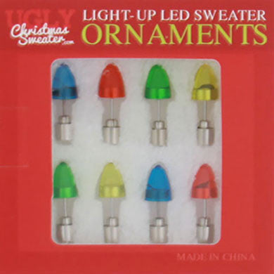 LED Christmas Sweater Ornaments