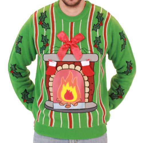 LED Fireplace Sweater