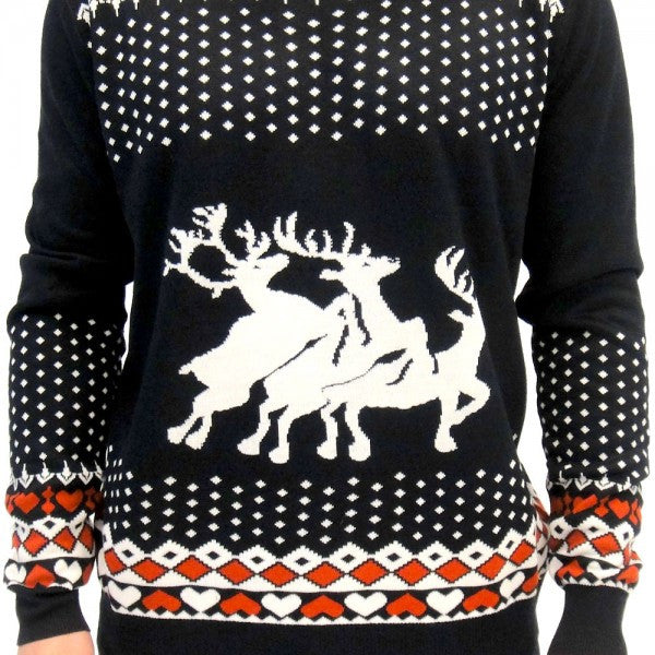 Reindeer Hearts Christmas Sweater