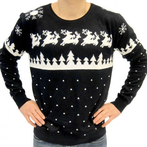 Grey Reindeer Ugly Christmas Sweater