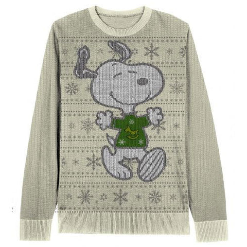 Peanuts Snoopy Happy Sweater with Snowflakes