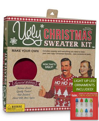 Ugly Christmas Sweater Kit (Free LED Ornaments included!)
