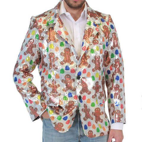 Sequin Gingerbread Man Blazer Jacket