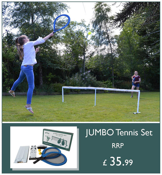 Wild about Wimbledon Traditional Garden Games Jumbo Tennis Set