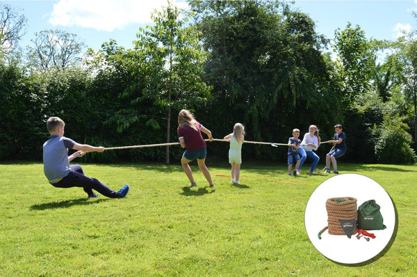 Traditional Garden Games Tug of War Family and friends BBQ, party wedding summer holidays making memories