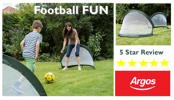 Traditional Garden Games 2 in 1 pop Up Goals