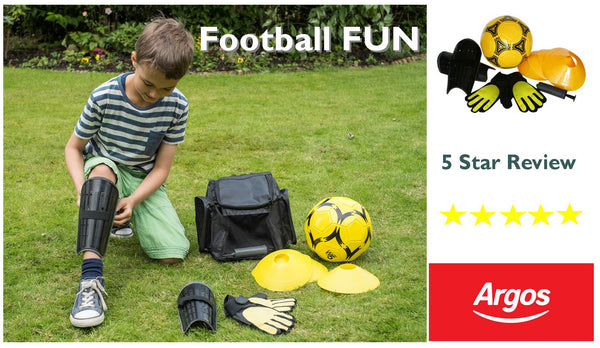 Traditional Garden Games Football Training Set and Backpack