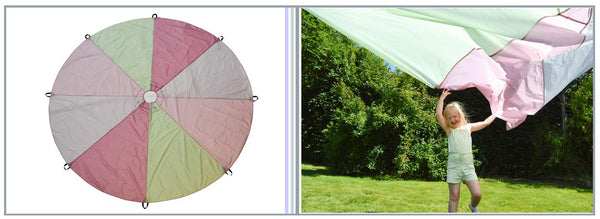 Traditional Garden Games play parachute