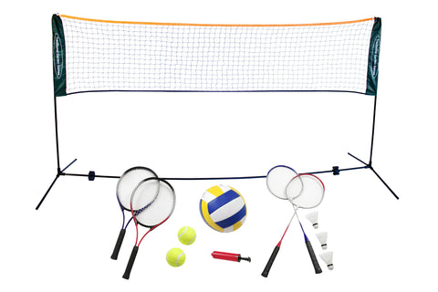 3 in 1 Badminton, Volleyball & Tennis Set with 3m Net