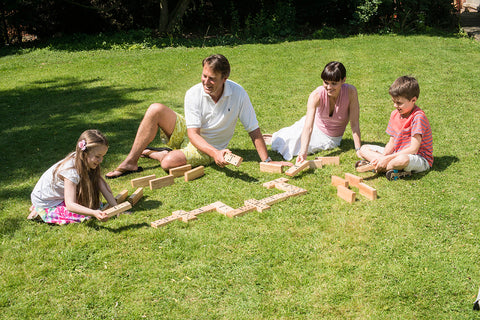 Traditional Garden Games Wooden Dominos