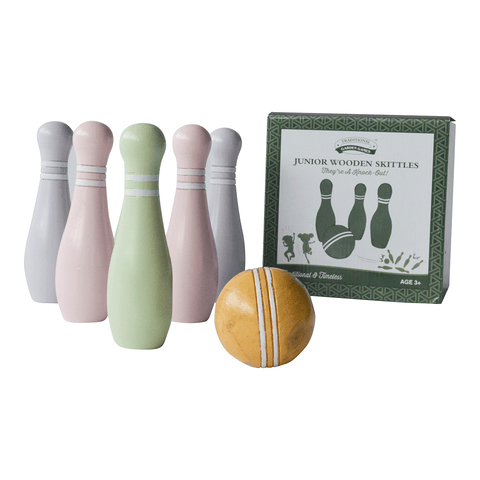 Traditional Garden Games NEW Junior Wooden Skittles
